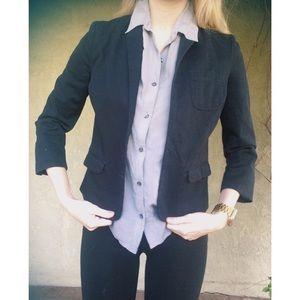 Dark blue and brown BDG work business blazer XS